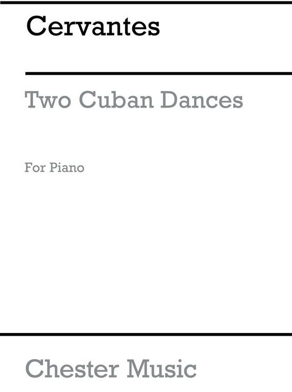 2 Cuban Dances: for piano