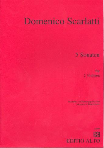 5 Sonaten: für 2 Violinen Spielpartitur
