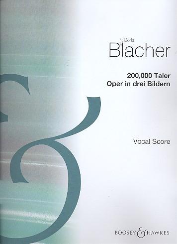 200000 Taler: Klavierauszug