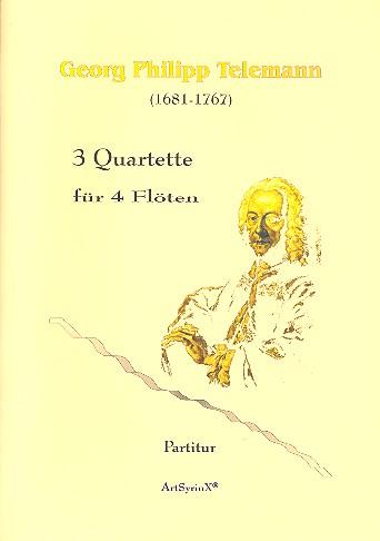 3 Quartette: für 4 Flöten Partitur