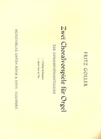 2 Choralvorspiele: für Orgel