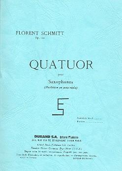 Schmitt, Florent - Quatuor op.102 :