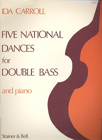 5 National Dances: for double bass and piano