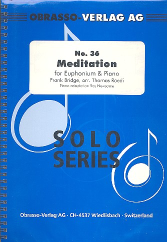 Meditation: für Euphonium und Klavier