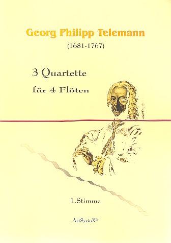 3 Quartette: für 4 Flöten