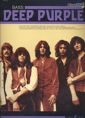 Deep Purple (+CD): Authentic Bass Playalong songbook vocal/bass/tab