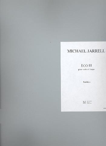 Eco Nr.3: für Gesang und Harfe Partitur