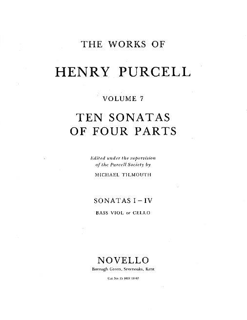 10 Sonatas of 4 parts (nos 5-7): for strings