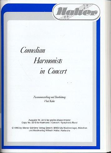 Comedian Harmonists in Concert (Medley): für Blasorchester