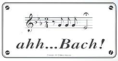 Aufkleber ahh...Bach
