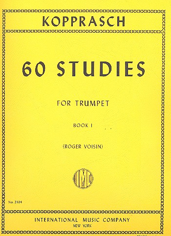 Kopprasch, C. - 60 Studies vol.1 (nos.1-34) : for trumpet