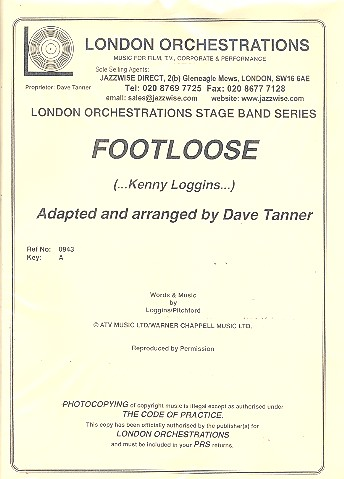 Footloose: for vocals and jazz ensemble parts