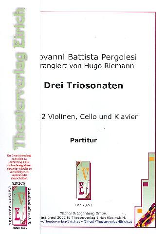3 Sonaten: für 2 Violinen und Bc (Violoncello und Klavier)