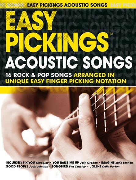 Easy Pickings - Acoustic Songs: for guitar in tablature (with text)