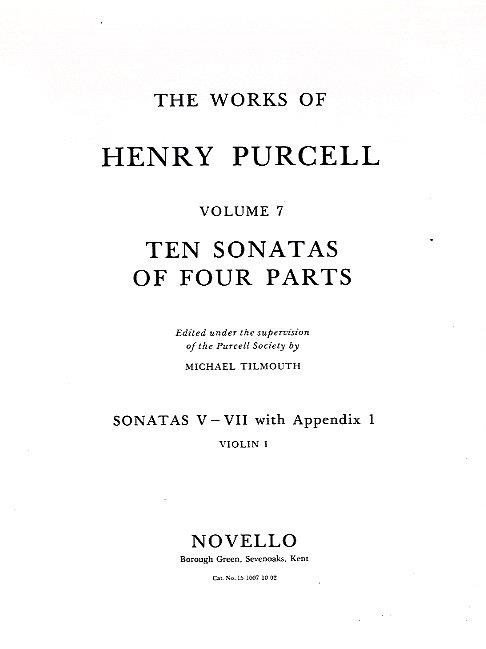 10 Sonatas of 4 Parts (nos.5-7): for strings