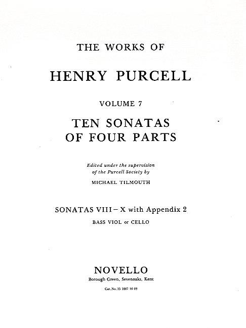 10 Sonatas of 4 Parts (nos.8-10): for strings