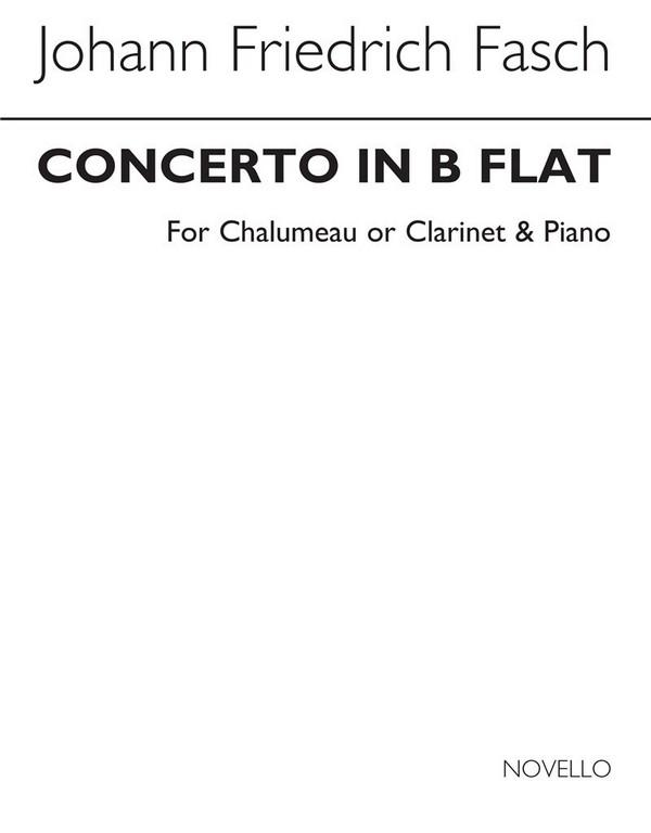Konzert B-Dur für Chalumeau und Orchester: für Chalumeau (Klarinette) und Klavier