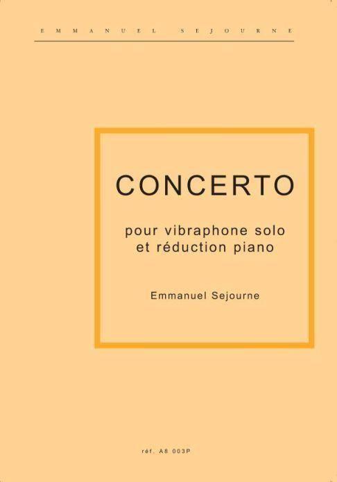 Concerto pour vibraphone et orchestre à cordes: pour vibraphone et piano
