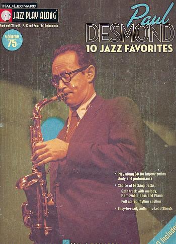 10 Jazz Favorites (+CD): Playlong Book for Eb, Bb,