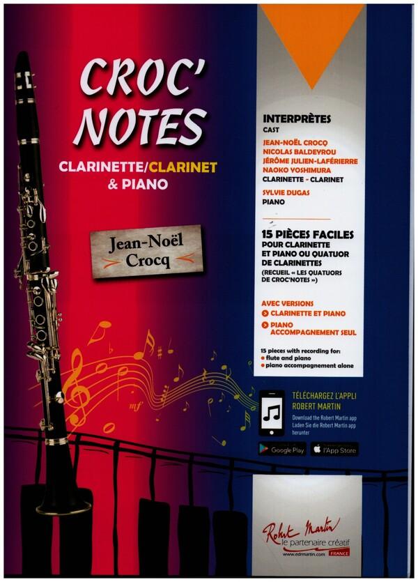 Crocq, Jean-Noel - Croc' Notes (+CD) : 15 pièces faciles
