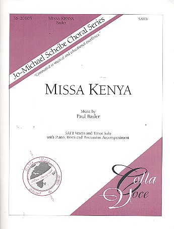 Missa Kenya: for tenor, mixed chorus, piano, horn and percussion
