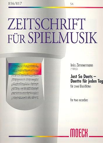 Zimmermann, Inés - Just so Duets - Duette für jeden Tag :