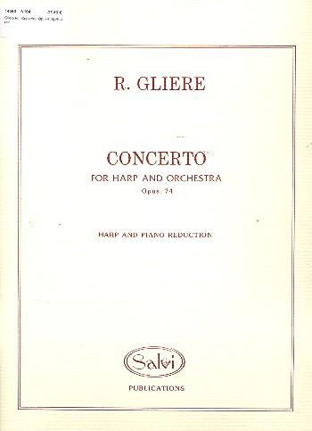 Konzert opus.74 für Harfe und Orchester: für Harfe und Klavier