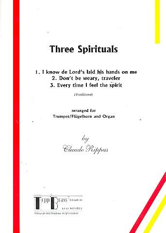 3 Spirituals: für Trompete (Flügelhorn) und Orgel