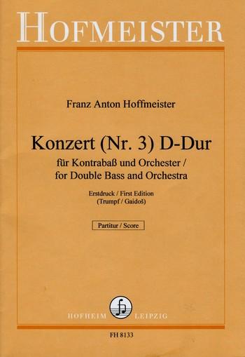 Konzert D-Dur Nr.3: für Kontrabaß und Orchester