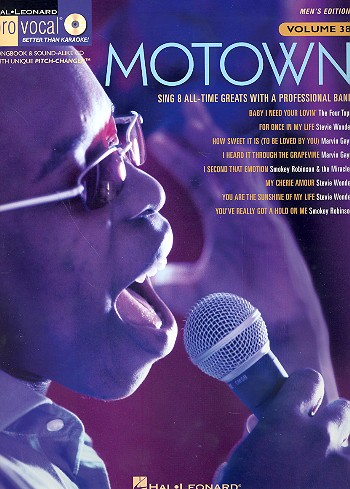 Motown (+CD): for male singers songbook vocal/guitar