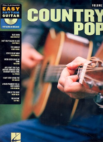 Country Pop (+CD): for easy rhythm guitar playalong vol.7 (in tablature)