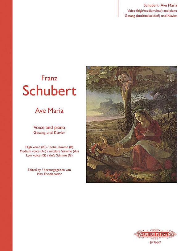 Schubert, Franz - Ave Maria op.52,6 : für Gesang