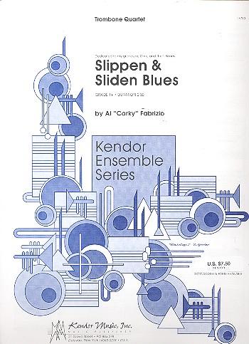 Slippen & Sliden Blues: for 4 trombones score and parts