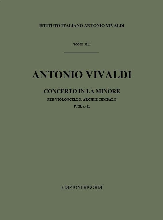 Konzert a-Moll RV420: für Violoncello, Streicher und Bc