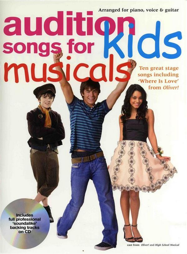 Audition Songs for Kids Musicals (+CD): songbook piano/vocal/guitar