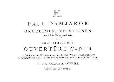 Overtüre C-Dur: für Orgel Sonderdruck
