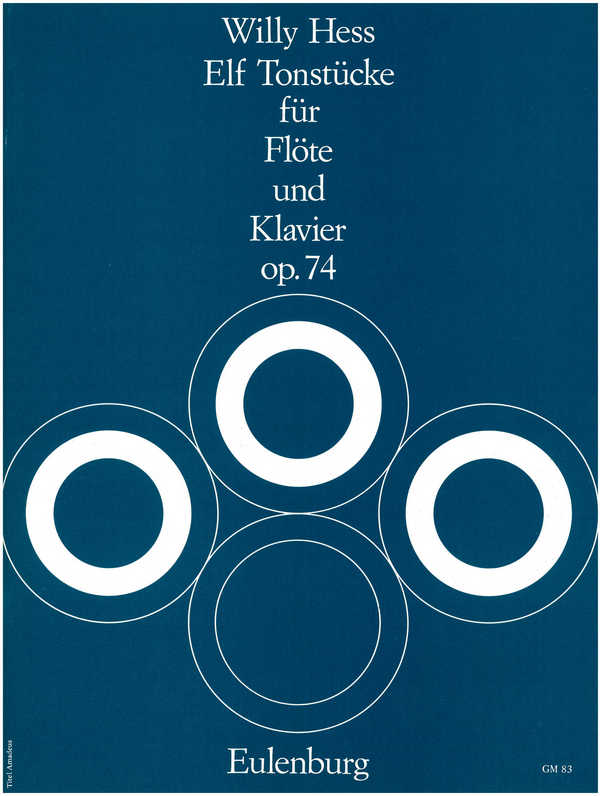 11 Tonstücke opus.74: für Flöte und Klavier