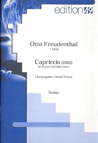 Capriccio: für Klavier und Zupforchester Partitur