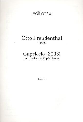 Capriccio: für Klavier und Zupforchester Klavier
