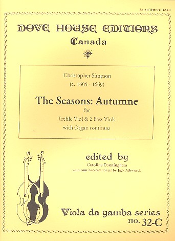 Autumne from The Seasons: for treble viol and 2 bass viols and organ continuo