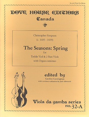 Spring from The Seasons: for treble viol and 2 bass viols and organ continuo