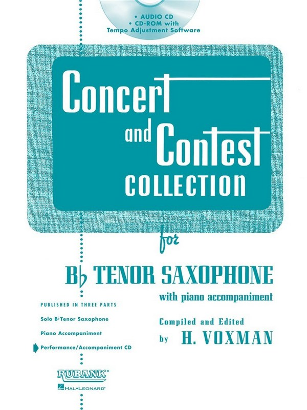 Concert and Contest Collection for Tenor Saxophone: CD