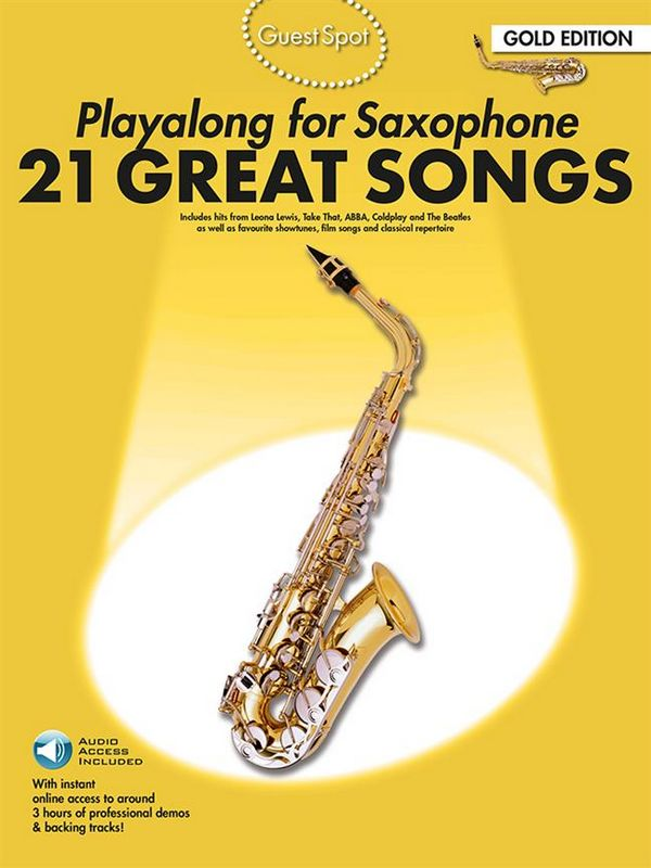 21 great Songs (+Download card): for alto saxophone
