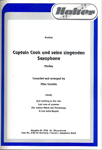 Captain Cook und seine singenden Saxophone: für Blasorchester