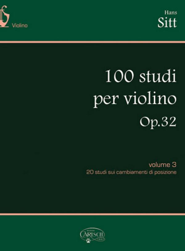 100 Etüden opus.32 Band 3: für Violine
