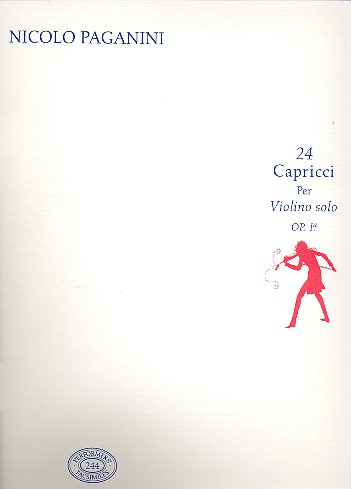 24 Caprices opus.1: for violin Faksimile