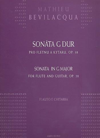 Sonate G-Dur opus.38: für Flöte und Gitarre Partitur und Stimme