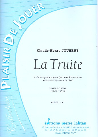 La truite: pour trompette (cornet) et piano