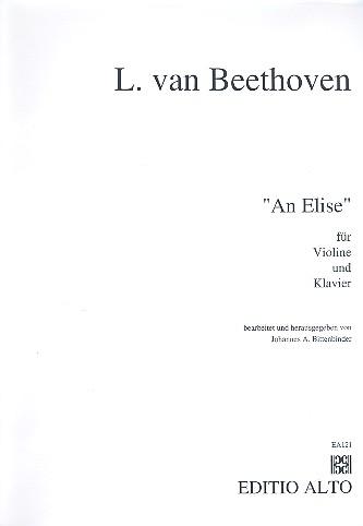 An Elise: für Violine und Klavier