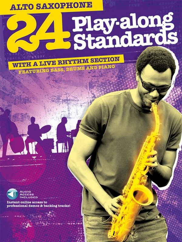 24 Playalong Standards (+Download Card): for alto saxophone